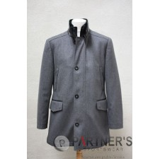 MANTEAU DRAP FINITION SIMILI CUIR - NERICH